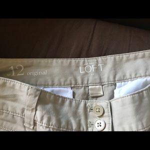 "Ann Taylor LOFT khaki shorts 5"" inseam size 12"